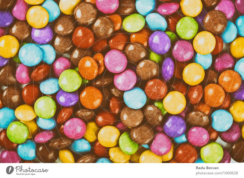 Sweet Colorful Candy Food Nutrition Eating Diet To feed Feeding To enjoy Near Retro Round Blue Brown Multicoloured Yellow Gold Green Violet Orange Pink Red