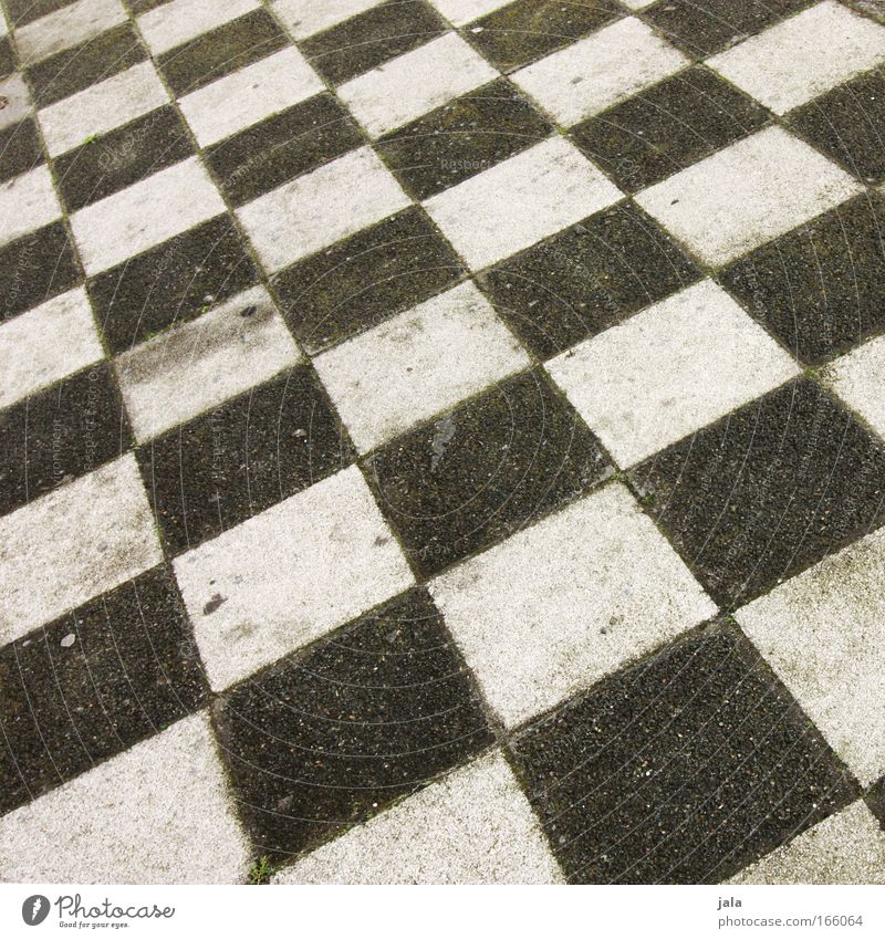 White Black Gray Concrete Places Ground Tile Sidewalk Square Checkered Chess Chessboard