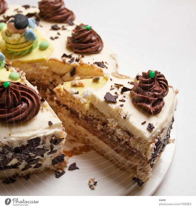 Feasts & Celebrations Food Birthday Baked goods Nutrition Sweet To enjoy Candy Delicious Cake Plate Diet Fasting Gateau Dessert Cream