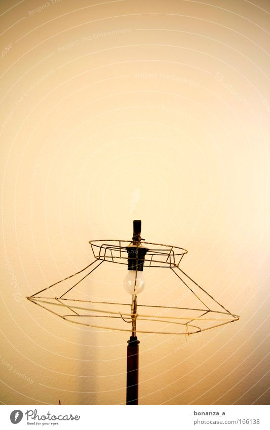 Patron. Subdued colour Interior shot Structures and shapes Copy Space top Neutral Background Design Interior design Decoration Furniture Lamp Art Work of art