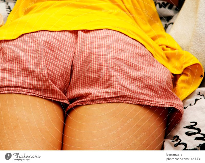 Human being Woman Red Summer Adults Yellow Feminine Legs Skin Natural Lie Sleep Authentic Soft Bottom Under