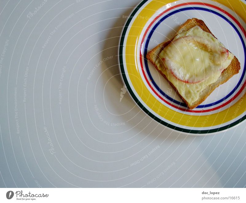 Nutrition Delicious Appetite Plate Tomato Cheese Snack Toast Culinary Student lunch