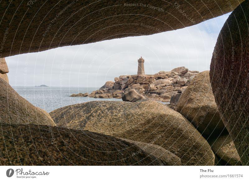 transparency Vacation & Travel Tourism Ocean Island Waves Landscape Coast Bay Atlantic Ocean Ploumanach Cote de Granit Rose Brittany France Europe Stone Water