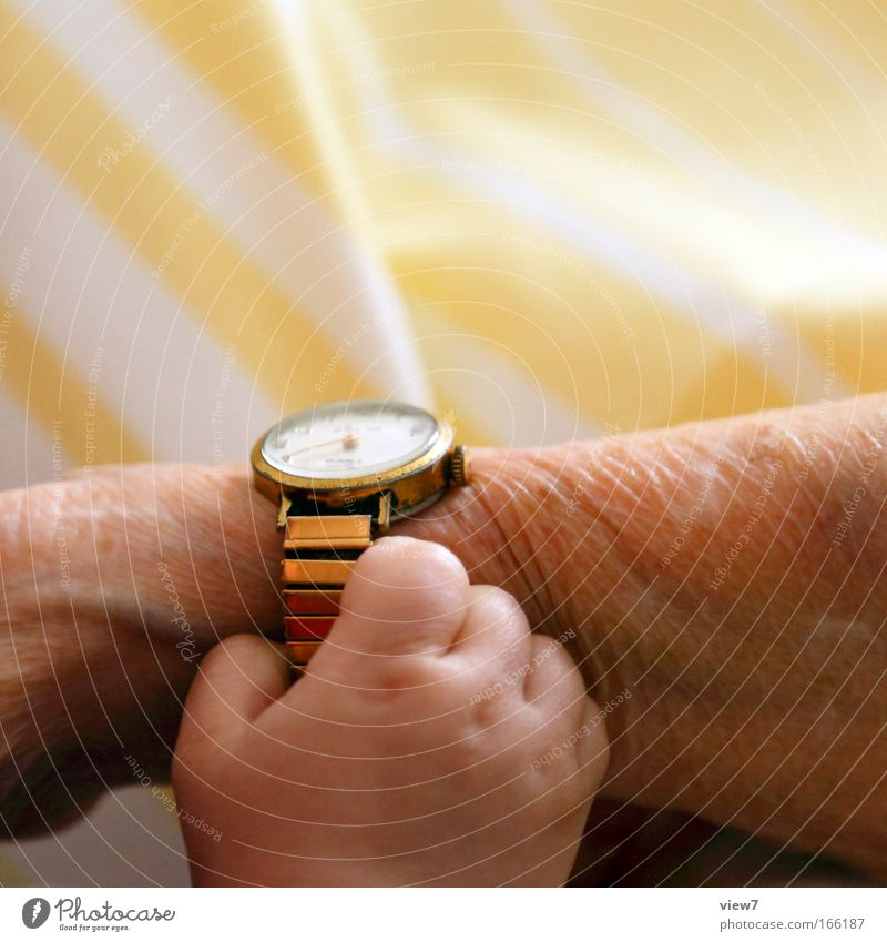 Human being Child Hand Old Senior citizen Yellow Life Happy Family & Relations Contentment Baby Together Time Arm Gold Fingers