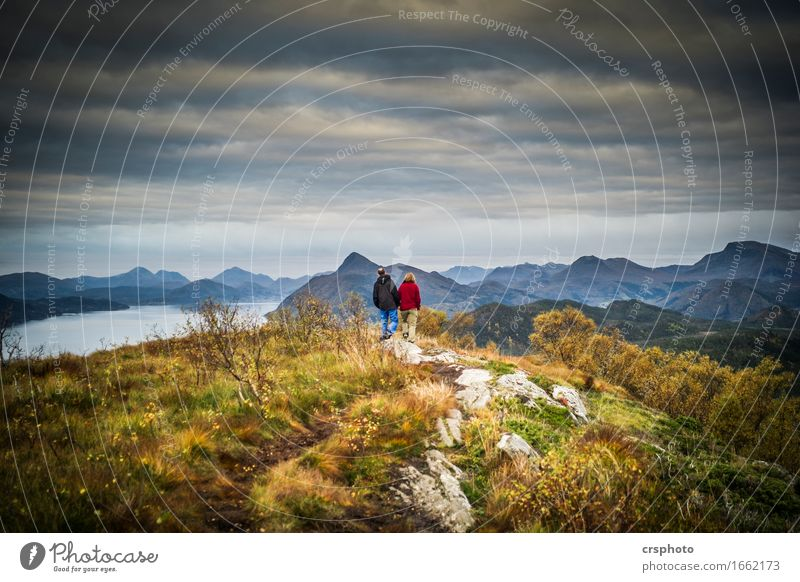 Human being Nature Landscape Mountain Love Feminine Couple Going Together Masculine Hiking Romance Peak Attachment Infatuation Partner