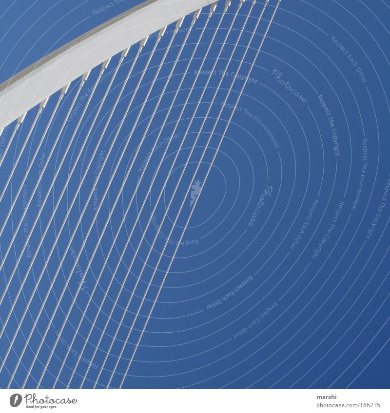 Sky Blue White Architecture Line Art Tall Free Modern Rope Bridge Industry Culture Manmade structures Infinity Height