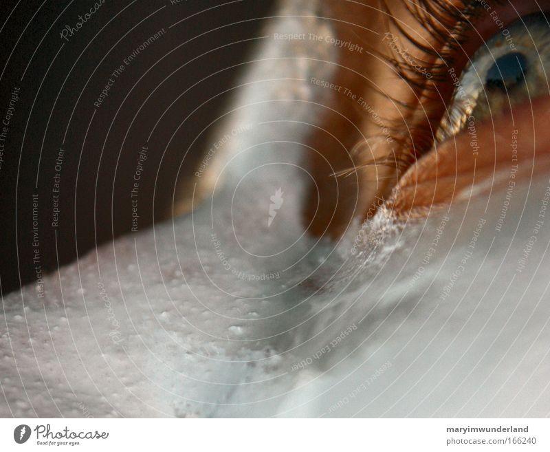 Eyes Skin Nose Personal hygiene Partially visible Eyelash Cream Pupil Iris Human being Detail of face Gaze Put on cream