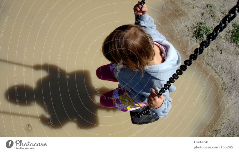 descending made difficult Girl 1 Human being 3 - 8 years Child Infancy Think Relaxation Hang To swing Dream Calm Sadness Grief Pain Longing Homesickness