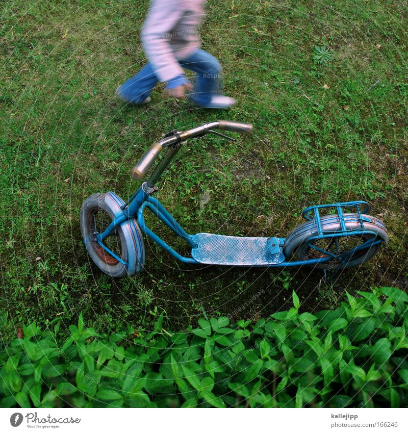 Human being Child Green Plant Girl Joy Meadow Playing Garden Legs Feet Park Infancy Arm Transport Happiness