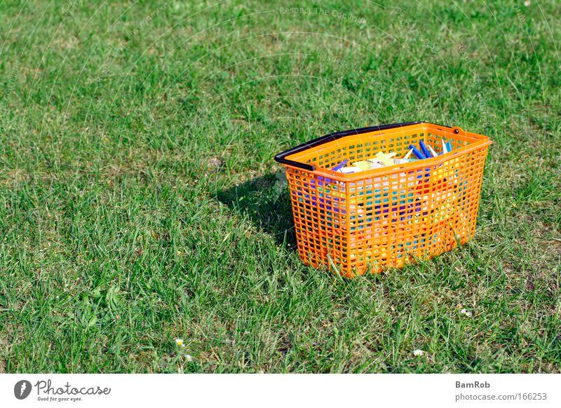 Green Loneliness Grass Garden Contentment Orange Future Peace Idyll Plastic Holder Clothes peg
