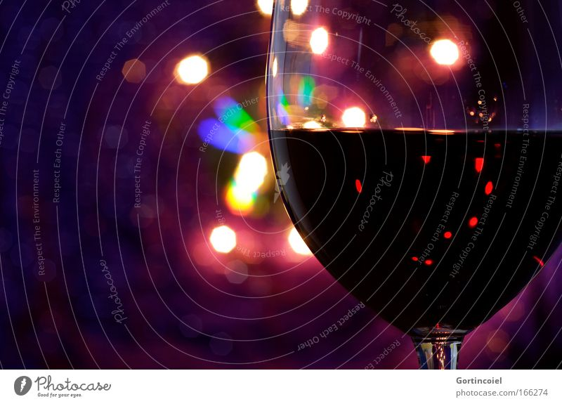 red wine Beverage Wine Red wine Glass Luxury Night life Restaurant Lounge Going out Feasts & Celebrations Multicoloured Violet Emotions Moody Glittering