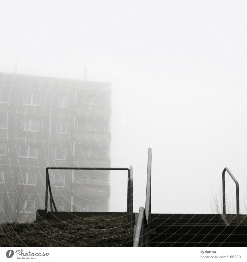 Sky Winter Loneliness Life Meadow Freedom Dream Sadness Lanes & trails Architecture Flat (apartment) Fog Poverty Weather Perspective Stairs
