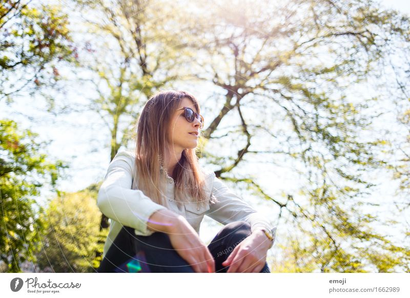 sun sun sun Feminine Young woman Youth (Young adults) 1 Human being 18 - 30 years Adults Nature Spring Summer Beautiful weather Cool (slang) Natural Positive