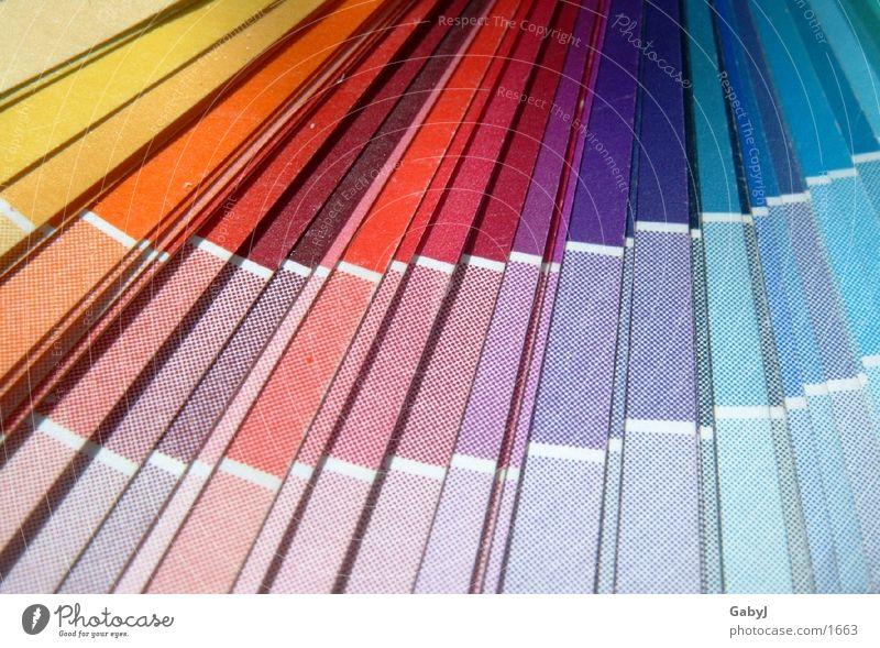 colour fan Colour Guide Multicoloured CMYK Lettering Selection Things colour spectrum colours printing print products offset printers Media designer 4c