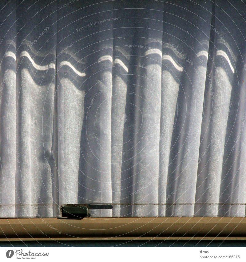 Sun Window Gray Brown Cloth Wrinkles Wire Curtain Textiles Folds Caravan Bracket Window frame