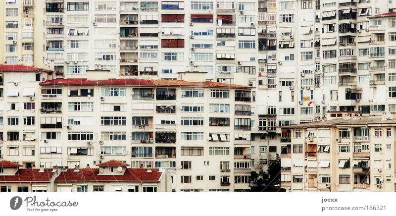 City House (Residential Structure) Window Building Together Flat (apartment) Facade Growth Living or residing Balcony Narrow Downtown Chaos Weather protection