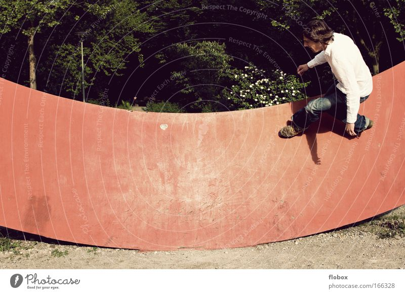 Man Youth (Young adults) Adults Sports Wall (building) Jump Dangerous Cool (slang) Threat Athletic Brave Skateboarding Freak Salto Halfpipe Trick