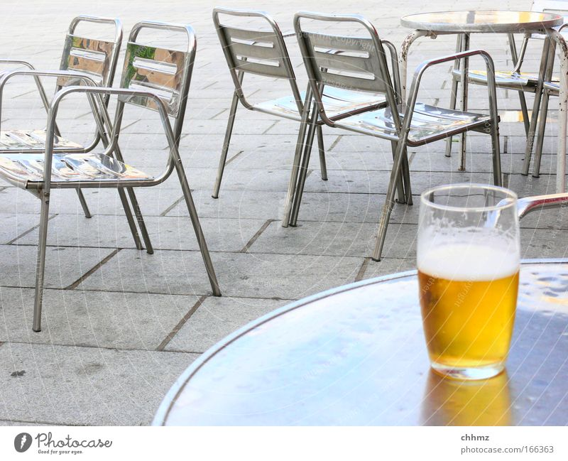 Yellow Cold Gray Metal Glass Concrete Fresh Happiness Beverage Drinking Chair Bar Gastronomy Beer Furniture To enjoy