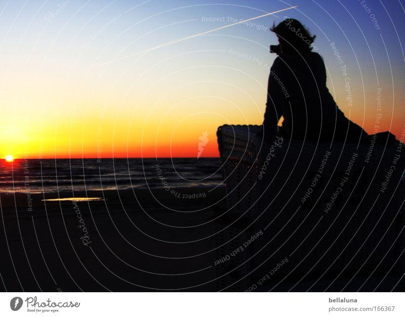 Woman Human being Sky Nature Water Beach Adults Far-off places Feminine Dark Environment Warmth Coast Air Horizon Sit