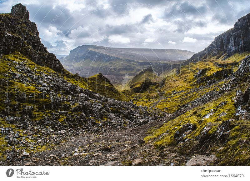 The Quiraing, Isle of Skye, Scotland Healthy Athletic Fitness Well-being Vacation & Travel Tourism Adventure Island Mountain Hiking Environment Nature Landscape