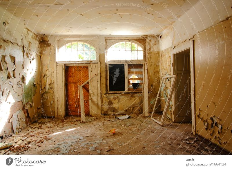 Make it your project! House (Residential Structure) Ruin Manmade structures Wall (barrier) Wall (building) Facade Window Door Living or residing Old Dark Broken