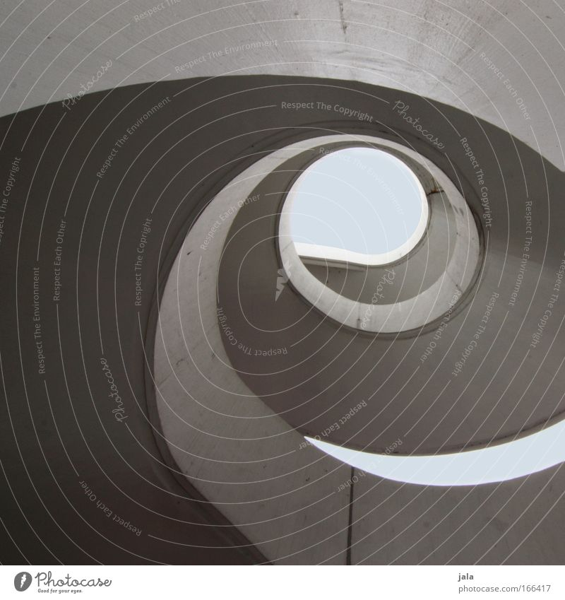 Sky Abstract Stairs Large Elegant Tall Concrete Modern Esthetic Round Manmade structures Landmark Spiral Winding staircase