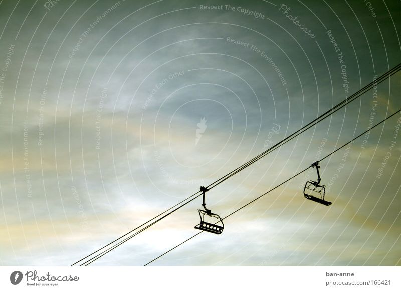 Sky Vacation & Travel Clouds Calm Winter Cold Mountain Freedom Metal Air Ease Upward Diagonal Downward Machinery
