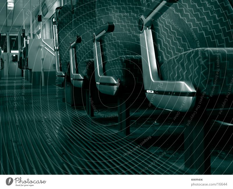 Transport Empty Seating Tram Lean