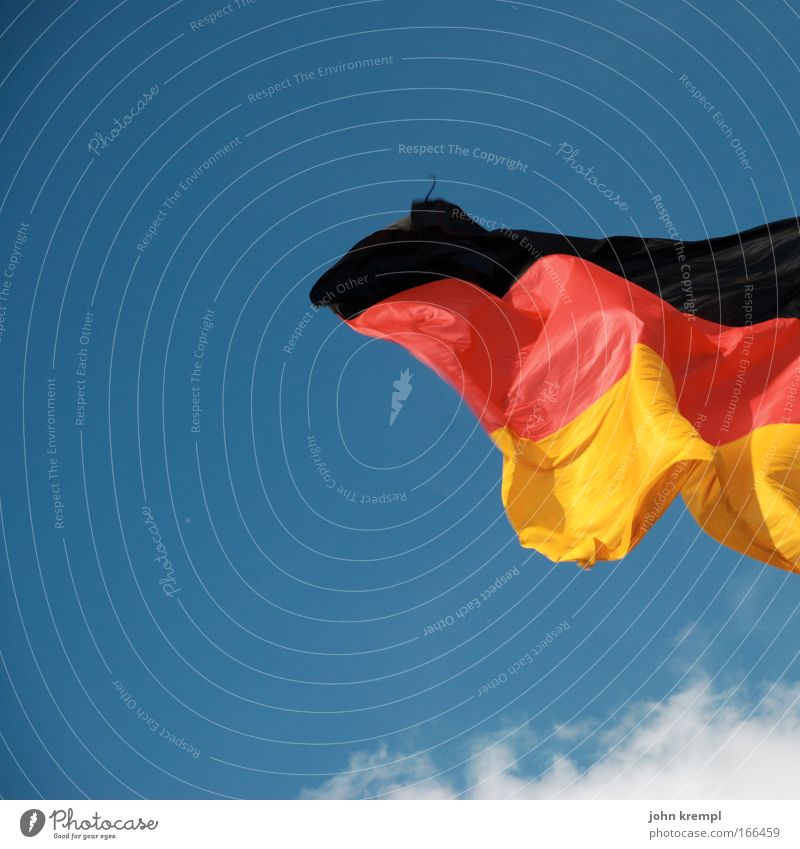 Sky Clouds Multicoloured Germany Wind Europe Future Flag German Flag Germans Reichstag Politics and state Patriotism