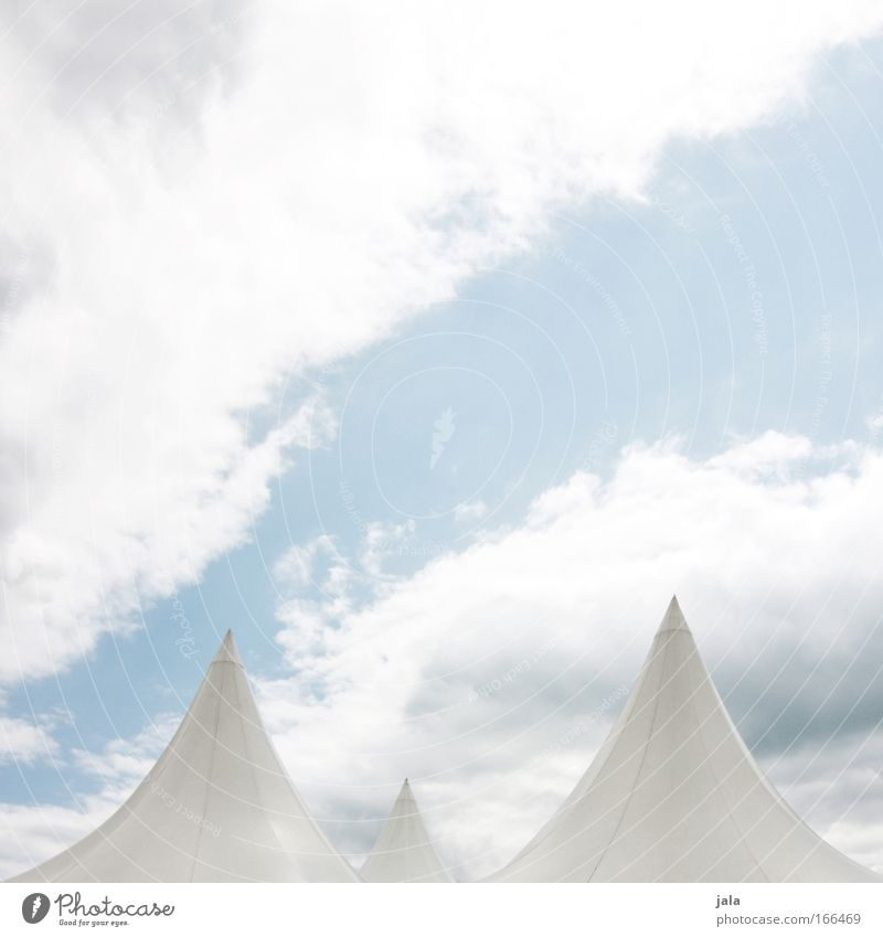 Sky White Blue Clouds Air Bright Art Esthetic Culture Shows Fantastic Theatre Stage Event Tent Artist