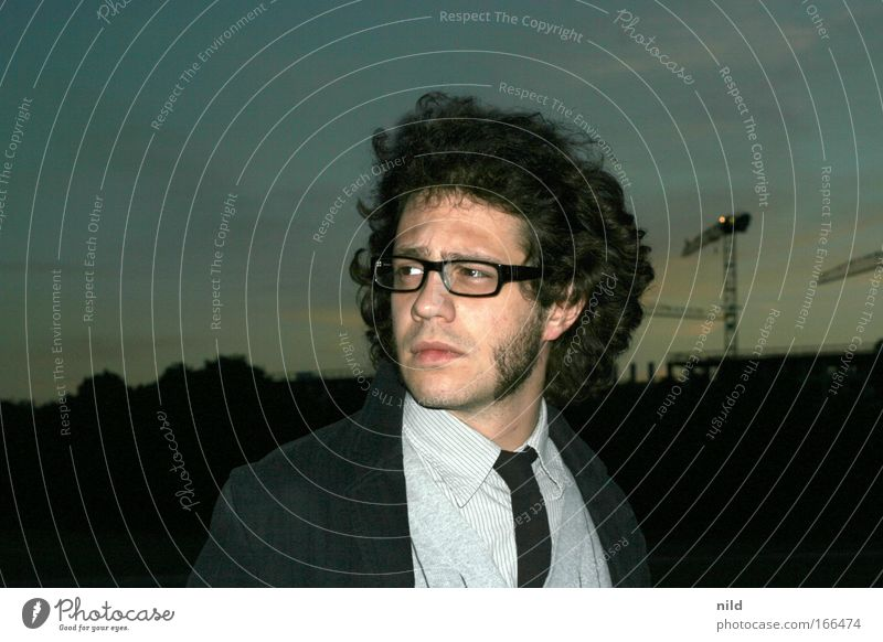 Human being Youth (Young adults) Face Dark Hair and hairstyles Adults Fashion Man Artist Masculine Eyeglasses Shirt Facial hair Suit Long-haired