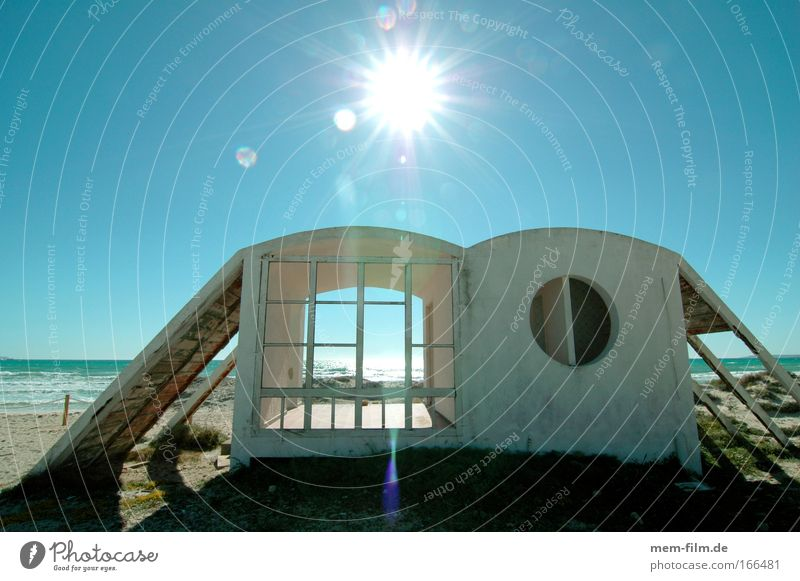Sun Ocean Beach Vacation & Travel Calm House (Residential Structure) Loneliness Relaxation Building Sand Architecture Hut Beach dune Dune Shriveled Architect