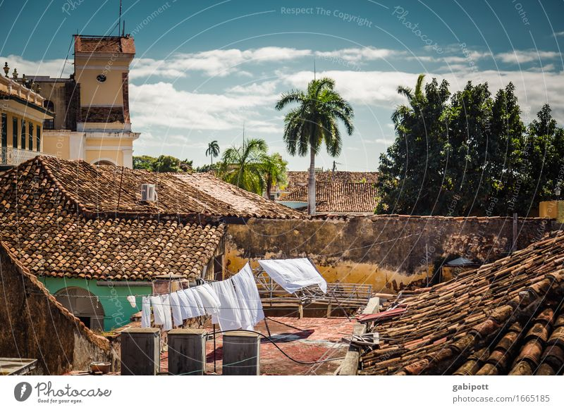 white linen Vacation & Travel Tourism Trip Adventure Far-off places City trip Summer Cuba Trinidade Small Town House (Residential Structure) Roof Roofing tile