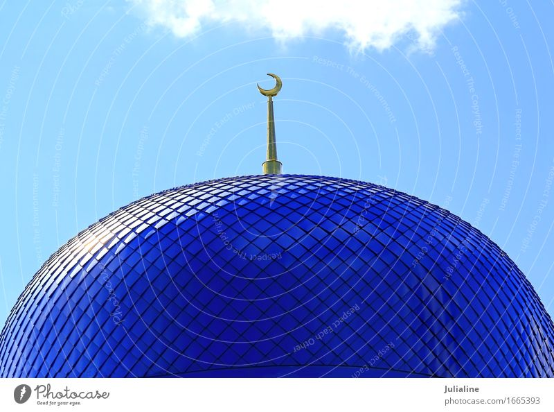 Roof of Islam temple Style Moon Building Architecture Religion and faith roof Minaret Mosque construction Temple dome Colour photo