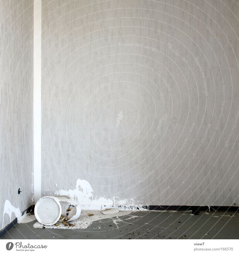 Old White Colour Work and employment Wall (building) Wall (barrier) Room Small Broken Construction site Decoration Anger Interior design Force Fluid