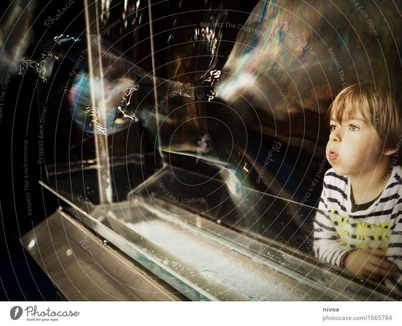 Human being Child Water Joy Movement Boy (child) Playing Art Head Masculine Growth Blonde Infancy Study Joie de vivre (Vitality) Observe