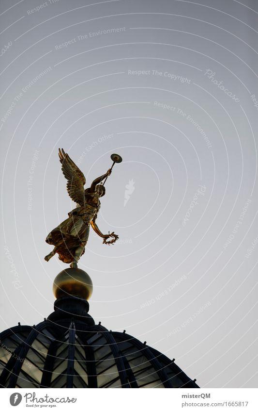 Art Gold Esthetic Happiness Gold Historic Roof Hope Belief Angel Heavenly Dresden Work of art Impressive Datura
