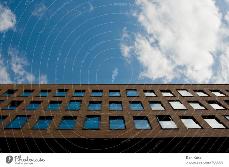 Sky Blue White Summer Clouds House (Residential Structure) Architecture Building Stone Line Brown Power Glass Design Might