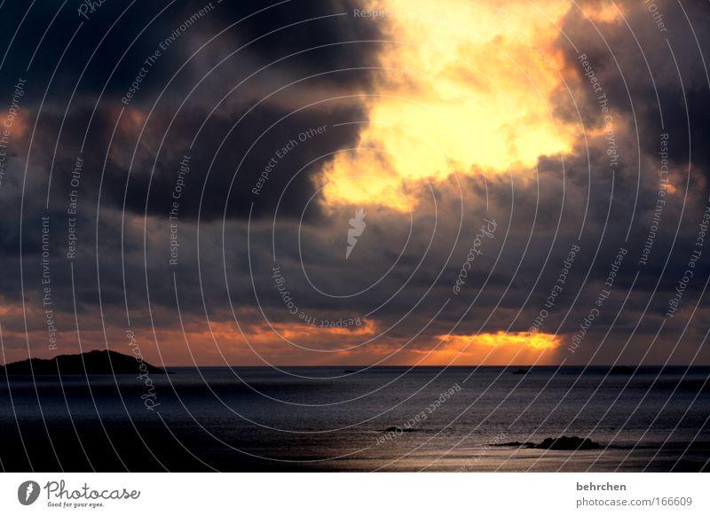 Beautiful Sky Sun Ocean Vacation & Travel Clouds Happy Dream Contentment Orange Fantastic To enjoy Sunset Africa Dramatic Honeymoon