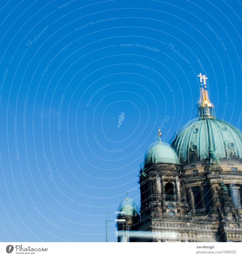 Old Blue Green Architecture Building Brown Church Berlin Manmade structures Monument Analog Landmark Dome Tourist Attraction Respect