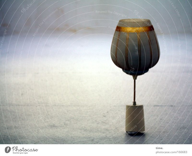 Blue Calm Lamp Dark Stone Glittering Glass Gold Energy industry Cable Stand Decoration Exceptional Serene Wallpaper