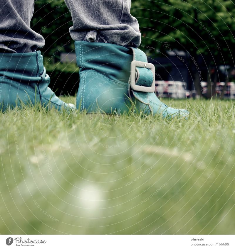 Green Style Grass Footwear Going Design Walking Lifestyle Cool (slang) Jeans Stand Boots Leather Buckle