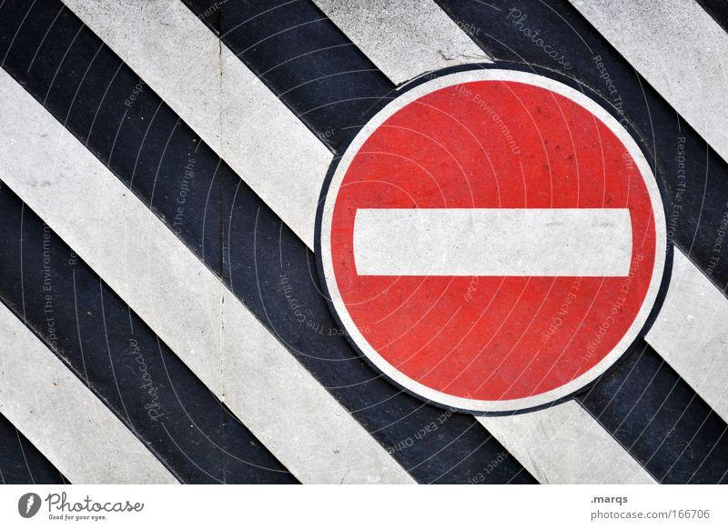 STOP Colour photo Exterior shot Detail Pattern Long shot Style Design Transport Passenger traffic Road traffic Sign Signage Warning sign Road sign Line Stripe
