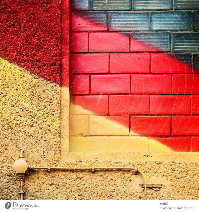 Red House (Residential Structure) Black Yellow Wall (building) Wall (barrier) Facade Illuminate Gold Happiness Electricity Sign Tilt Cable German Flag Euphoria
