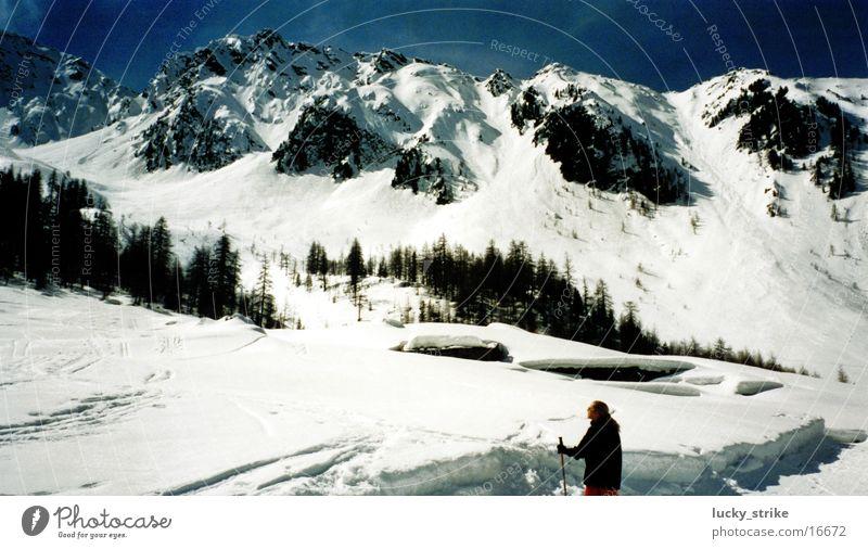 Sky Winter Snow Mountain Europe Skiing Alps