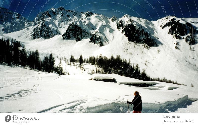Which mountain called? Winter Europe Alps Snow Sky Mountain Skiing