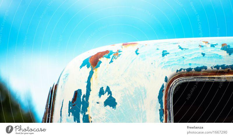 Old Blue Beautiful Green Yellow Senior citizen Brown Design Transport Car Past Decline Rust Steel Motoring Original