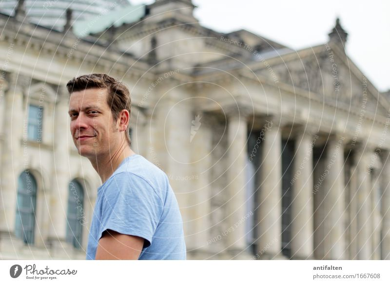 Human being Vacation & Travel Man City Summer Face Adults Eyes Life Natural Berlin Happy Hair and hairstyles Head Germany Tourism
