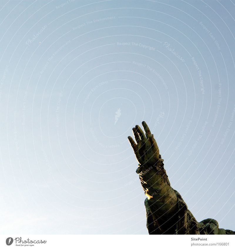 Hand Sky Blue Arm Free Monument Historic Beautiful weather Marketplace Cloudless sky