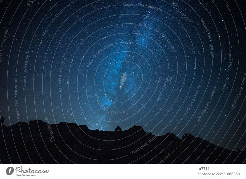 Nature Blue Relaxation Loneliness Far-off places Mountain Freedom Longing Fame Tenerife Milky way Caldera